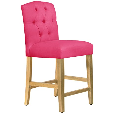 Fuschia Furniture. Skyline Furniture Tufted Arched Counter Stool In Linen  Fuschia D