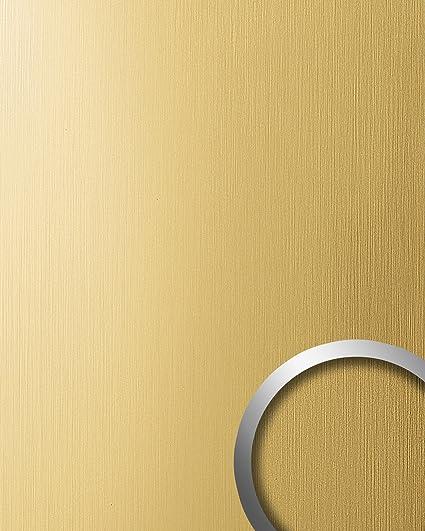 Pannello Per Interni Effetto Metallo Giallo Oro Wallface 15298 Deco