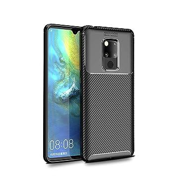 BELLA BEAR Funda para Huawei Mate 20 X,Silicona Material Blando A Prueba de choques Carcasa de Telefono Cover for Huawei Mate 20 X(Negro)