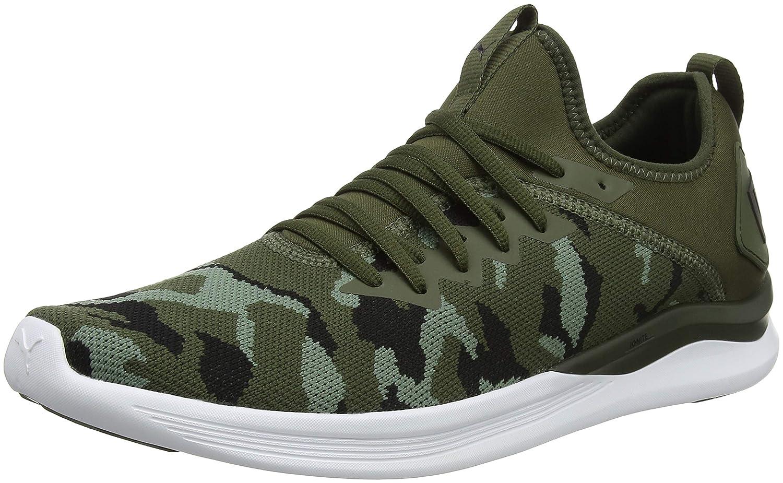 Puma Ignite Flash Camo, Zapatillas de Entrenamiento para Hombre 40.5 EU|Verde (Forest Night-laurel Wreath-puma Black 01)