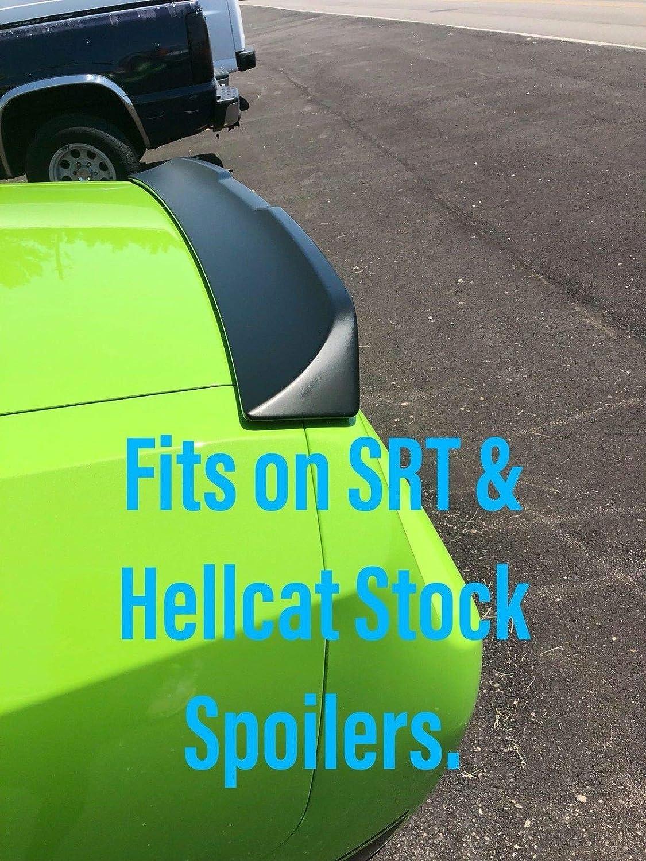 PSDesigns Venom Series Challenger 2 Piece Wickerbill Spoiler with Backup Camera Cutout 2008-14 RT SRT Hellcat Scatpack SRT8 with RivNut Tool