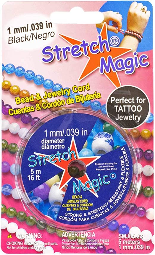 Clear Stretch Magic Bead /& Jewelry Cord 16.4ft 1mm