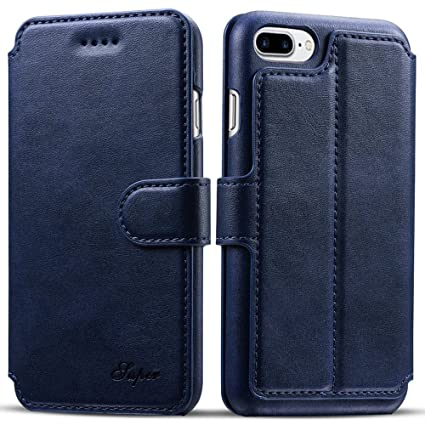 iphone 8 case card holder in blue