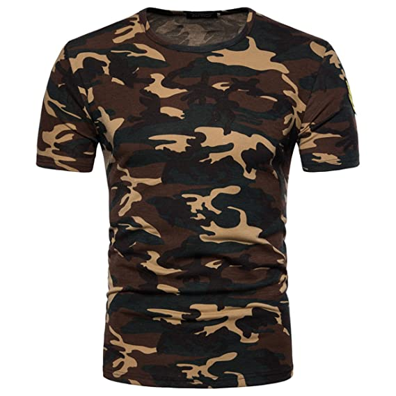 Hombre longraDe Hombre Camuflaje Militares Camiseta 6yfYvb7g