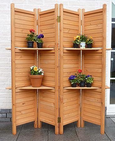 Sichtschutz, Paravent 4-teilig für Garten, Terasse und Balkon ...