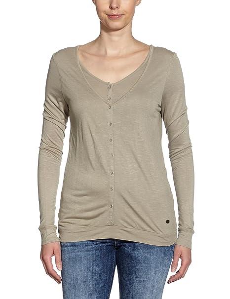 071fcd082 LERROS Camiseta de manga larga para mujer, talla 36, color Beige (Kangaroo  154): Amazon.es: Ropa y accesorios