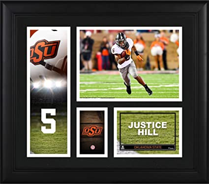 Justice Hill Oklahoma State Cowboys Framed 15