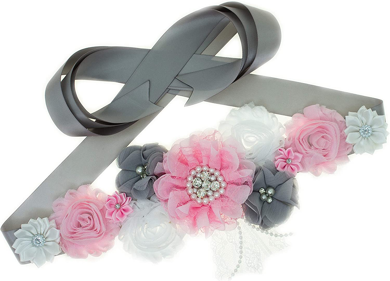 Hot Pink// Gold Maternity Sash Belt //Baby Showers Vintage Belt //Flower Girl Sash