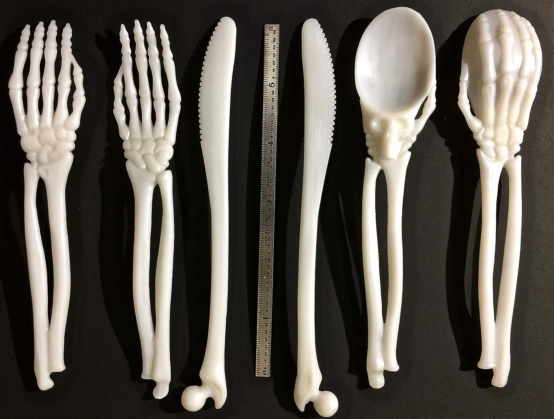 Amazon.com: BoneWarea - Vajilla de plástico con esqueleto ...