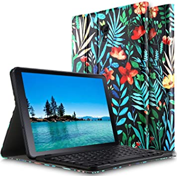 ELTD Teclado Estuche para Samsung Galaxy Tab A 10.5 SM-T590/T595,[QWERTY diseño en inglés], Protectora Funda con Desmontable Wireless Teclado para Samsung Galaxy Tab A 10.5 SM-T590/T595,(CH-Indigo): Amazon.es: Electrónica