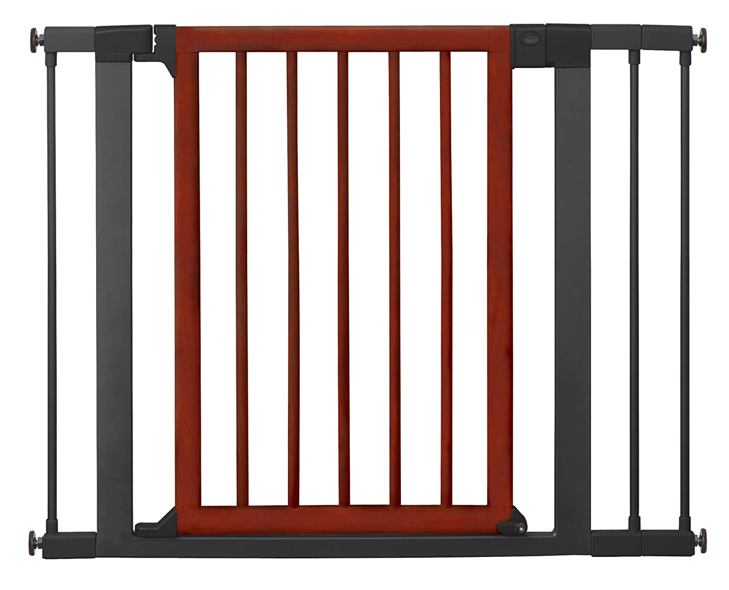 Munchkin 31283 Wood Steel Designer Gate (Dark Wood/Silver): Amazon.ca: Bébés