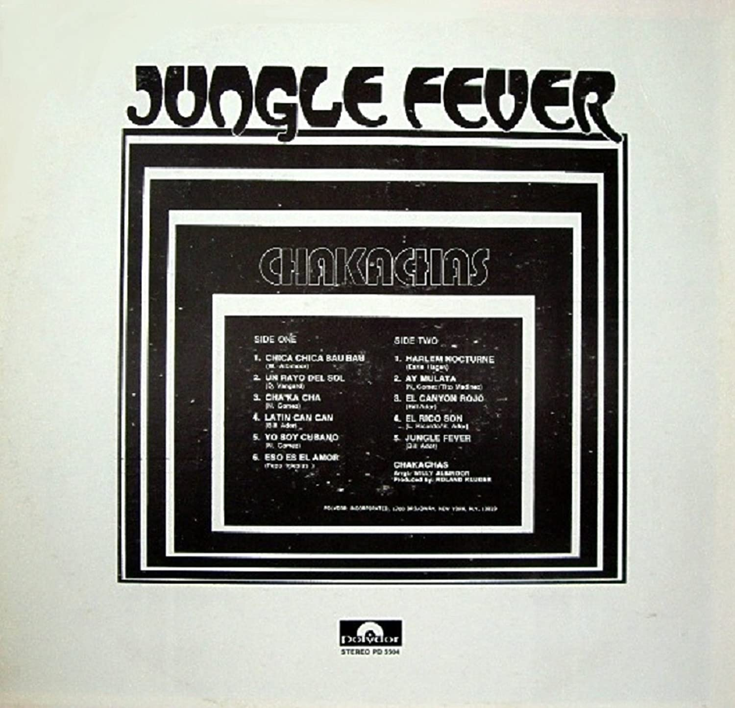 Jungle Fever Original recording reissued