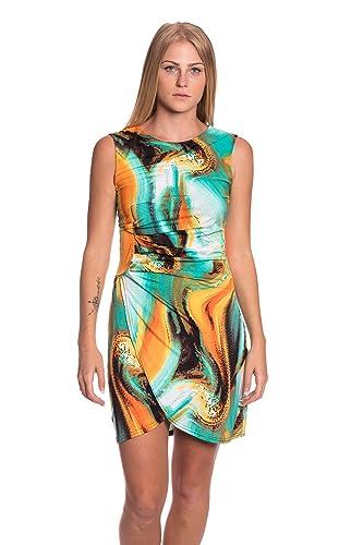 Abbino J493 Vestiti Donne Ragazze – Made in Italy – Multiplo Colori – Mezza Stagione Primavera Estate Autunno Uni Signore Vestiti Donne Libero Casual Eleganti Saldi Sexy