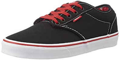 1a833f9c270 Vans Men s Atwood Varsity Black and Red Sneakers - 10 UK  Buy Online ...