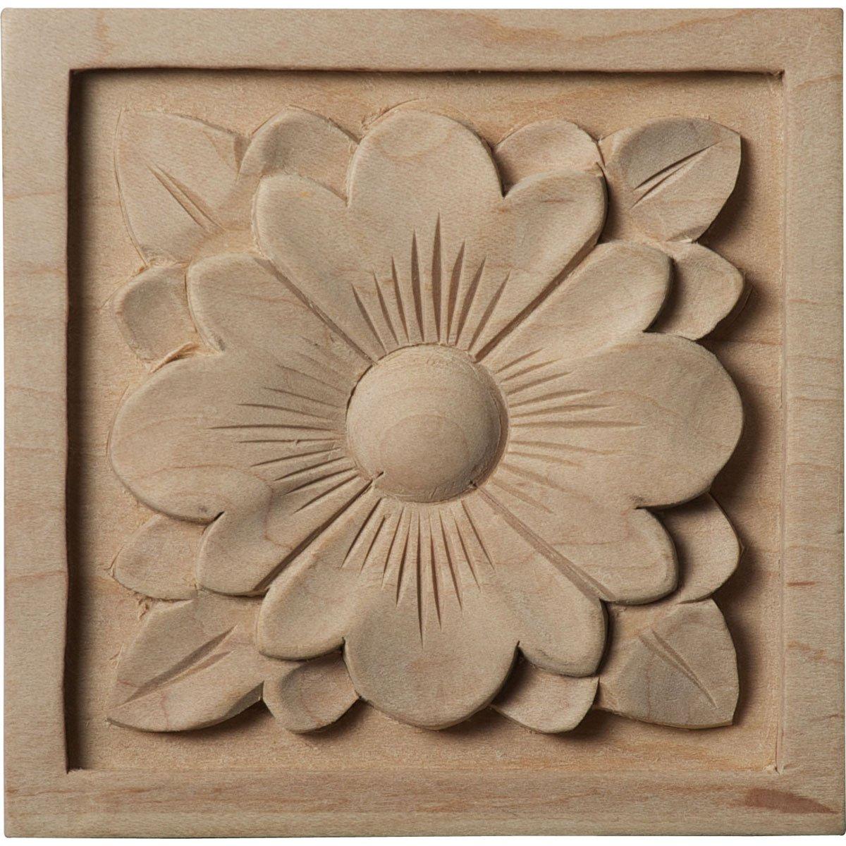 Amazon.com: ekena millwork ros05x05dglw large dogwood flower rosette