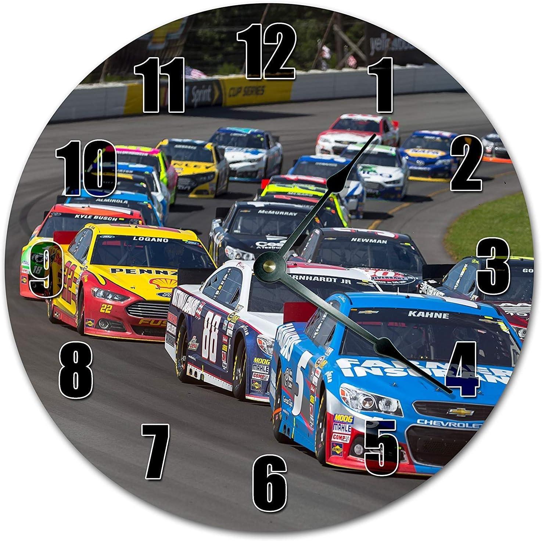 prz0vprz0v Reloj clásico de madera, sin tachuelas, 12