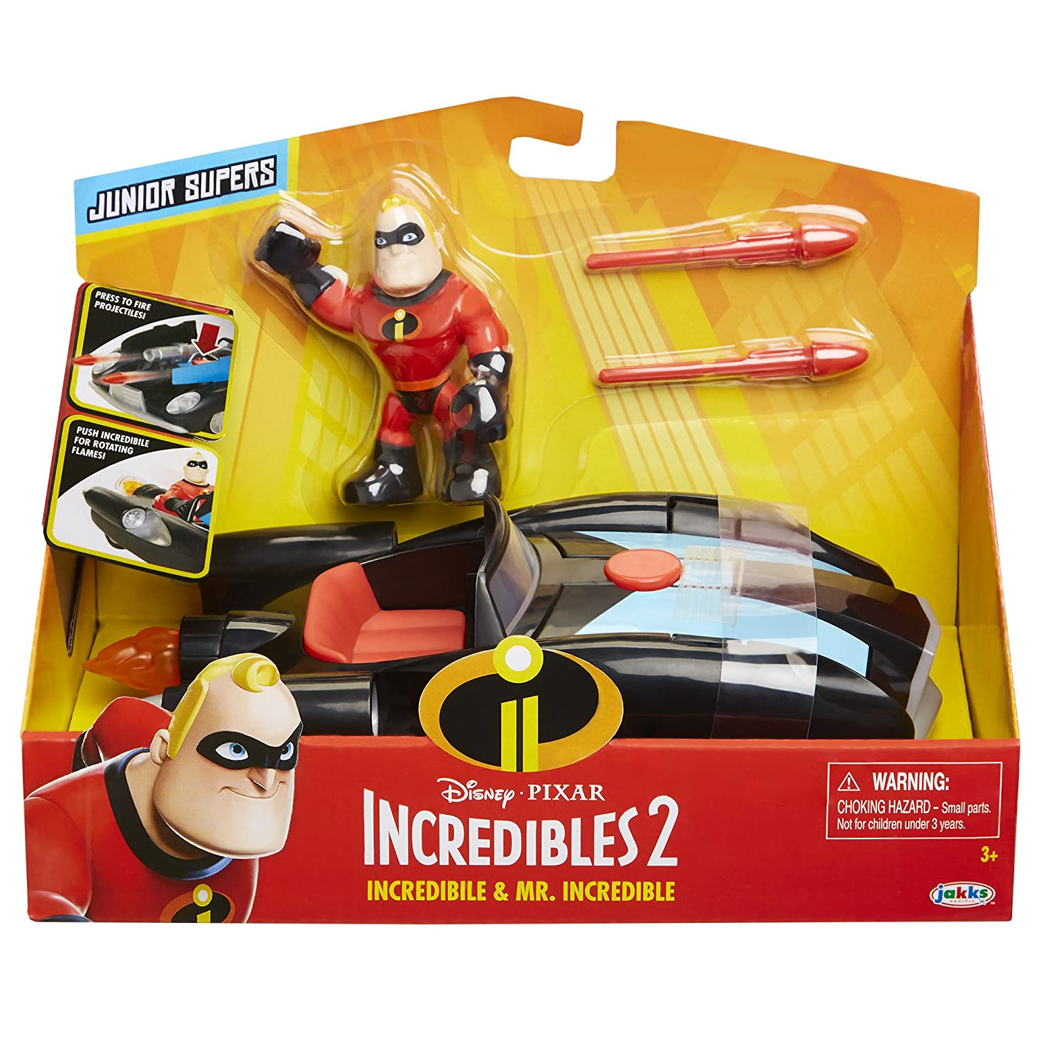 cbc5f879e32 Amazon.com: The Incredibles 2 Incredibile Car & Mr. Incredible Junior  Supers Action Figure Play Set: Toys & Games