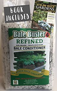 BaleBuster4 Starter Kit Includes Straw Bale Gardens Complete Book with Instructions for Step-by-Step Garden Set up.