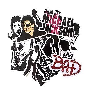 16 Pcs Famous Musician Rock King Michael Jackson Punky Stickers Graffiti Waterproof Skateboard Suitcase Laptop Sticker Decals