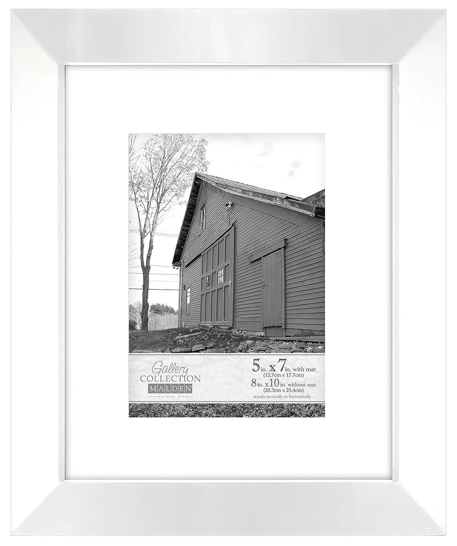 Malden International Designs Berkeley Beveled Edge Wood Collage Picture Frame, 4 Option, 4-4x6, White 2032-464