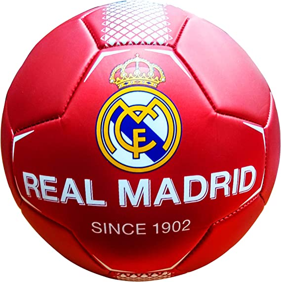 REALMADRID Real Madrid Balón de fútbol Unisex niños, Rojo Talla 0 ...