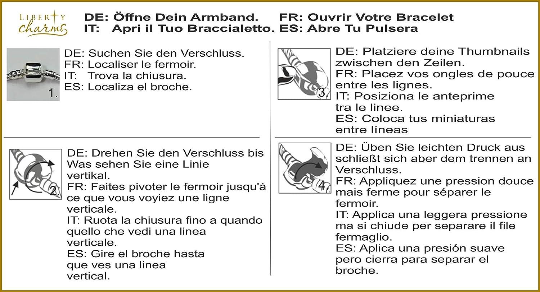 Liberty Charms Fille Petit Ange b/éb/é bapt/ême Bracelet /à Breloques plaqu/é Argent