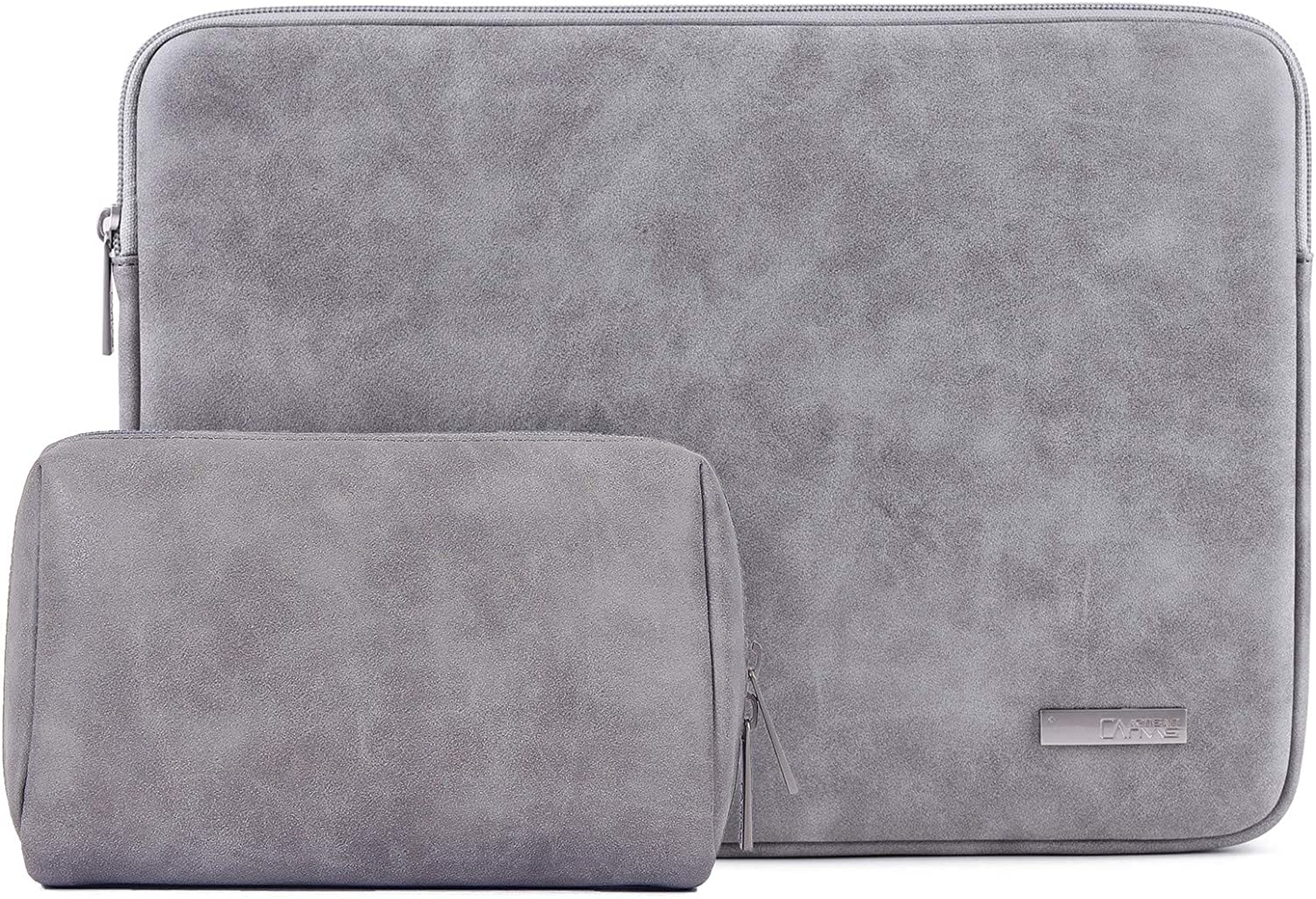 PU Leather Padded Laptop Bag HBLOOMYST 13 14 15 Inch Frosted Protective Notebook Sleeve Computer Case Cover