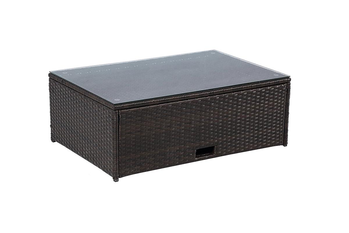 Baner Garden (K35 4 Pieces Outdoor Furniture Complete Patio Wicker Rattan Garden Corner Sofa Couch Set, Full, Black