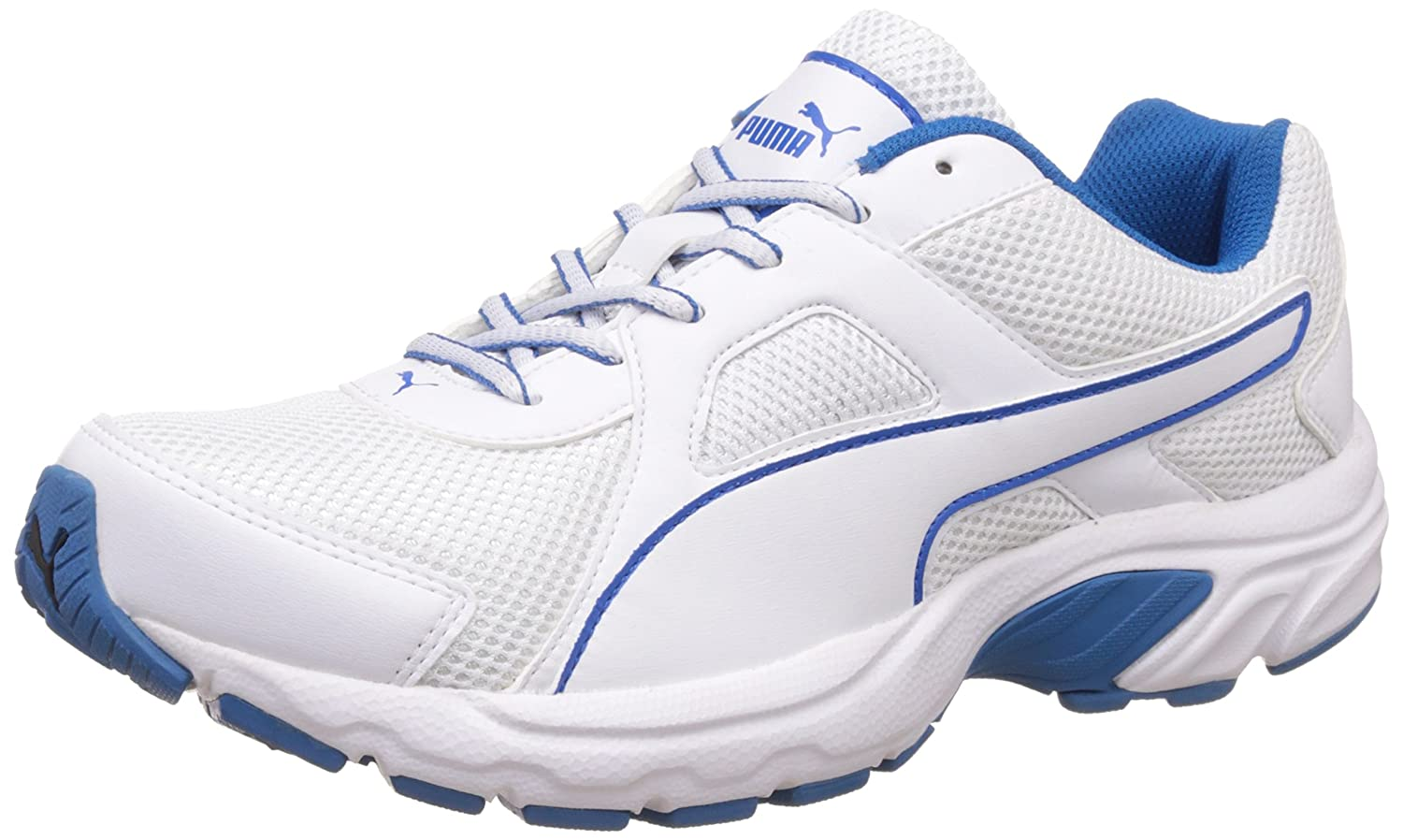 white puma running shoes