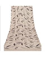 Sanskriti Pashmina New Viscose Printed Shawl White Stole Scarf Feathers