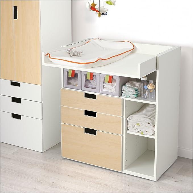 IKEA STUVA - Cambio de mesa con 3 cajones de efecto Blanco ...
