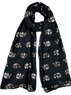 38967d3f53db Claudia   Jason® Lady Womens New Design Glitter Rose Gold Beautiful Thai  Elephant Scarf Wraps