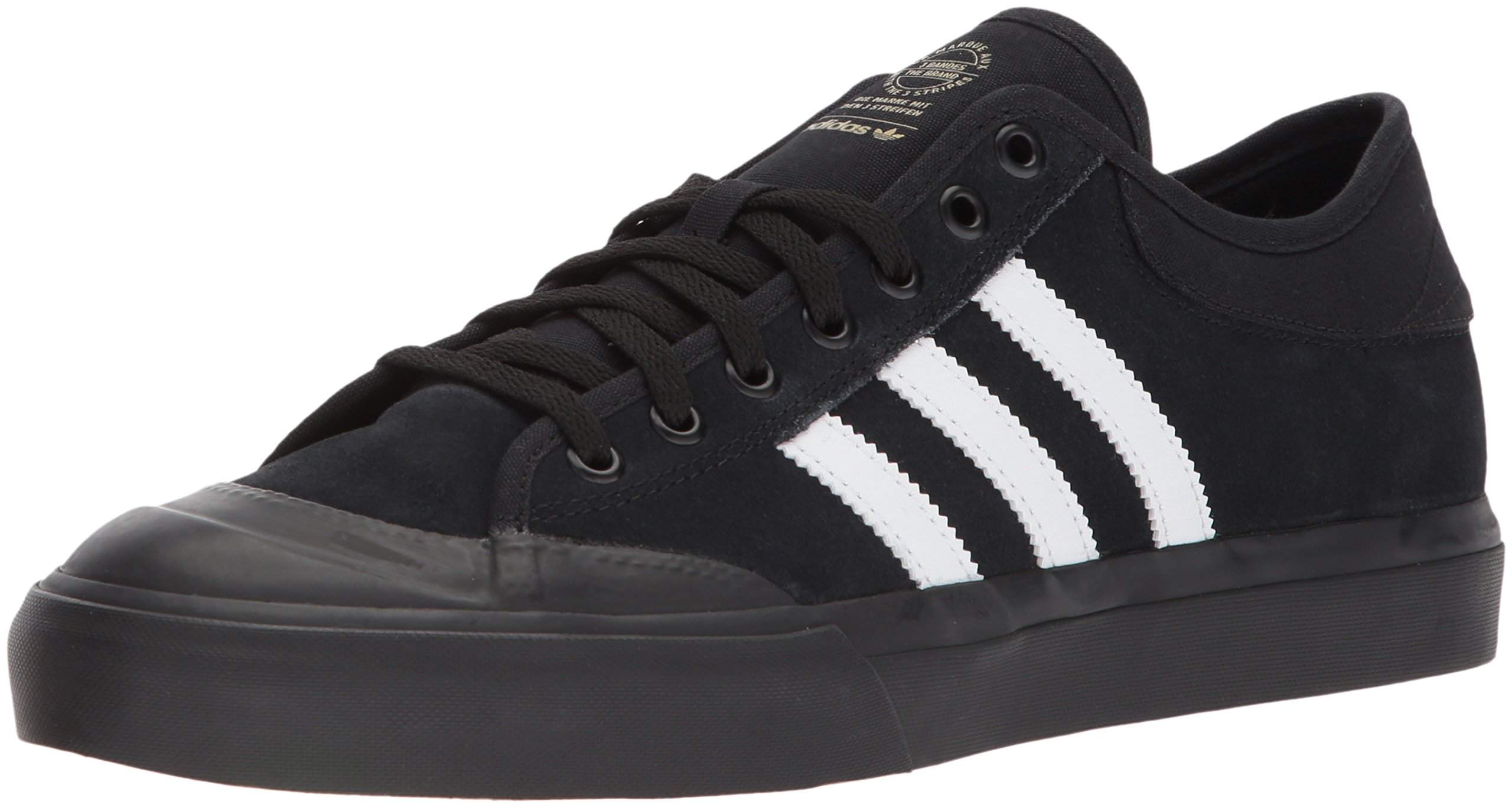 adidas Originals Men's Matchcourt, Core Black/White/Gum, 11.5 M US
