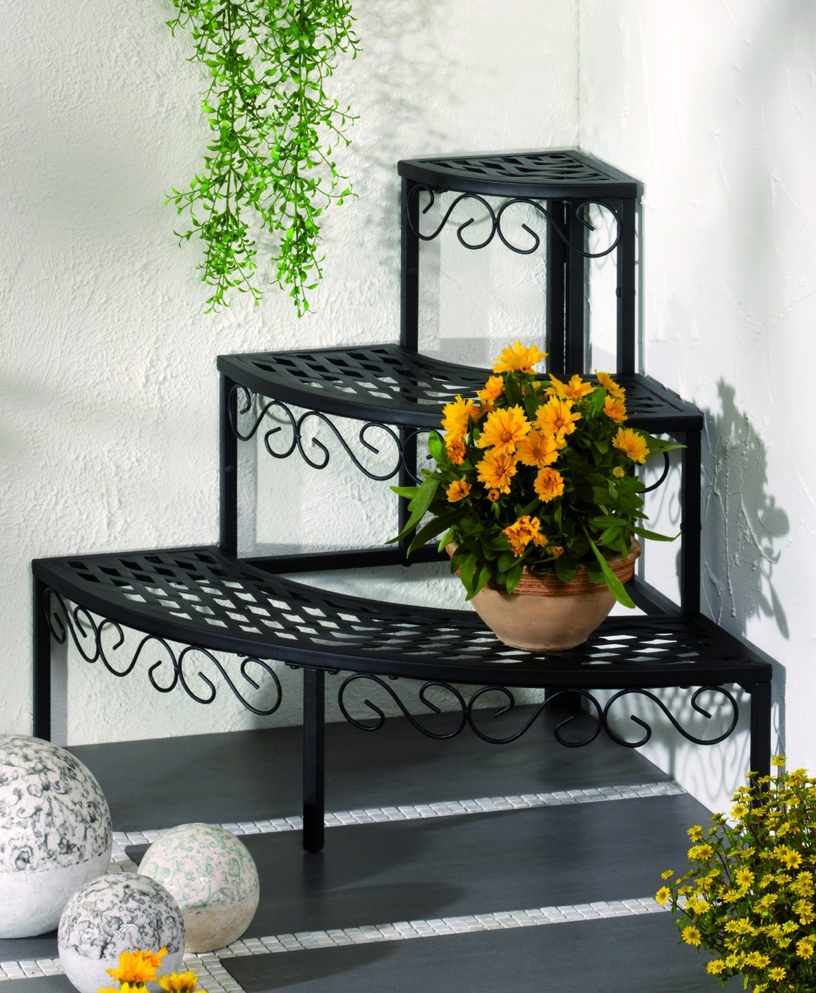 FRESH AIR FOREVER 3 Tier Plant Modern Metal Stand Rack for Displaying Plant or Multi Flower Pot by FRESH AIR FOREVER