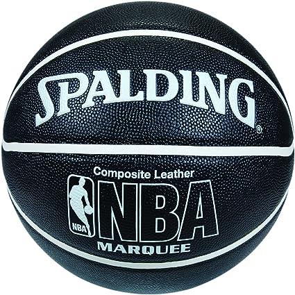 Spalding NBA Marquee - Balón de baloncesto (tamaño 7 negro negro ...