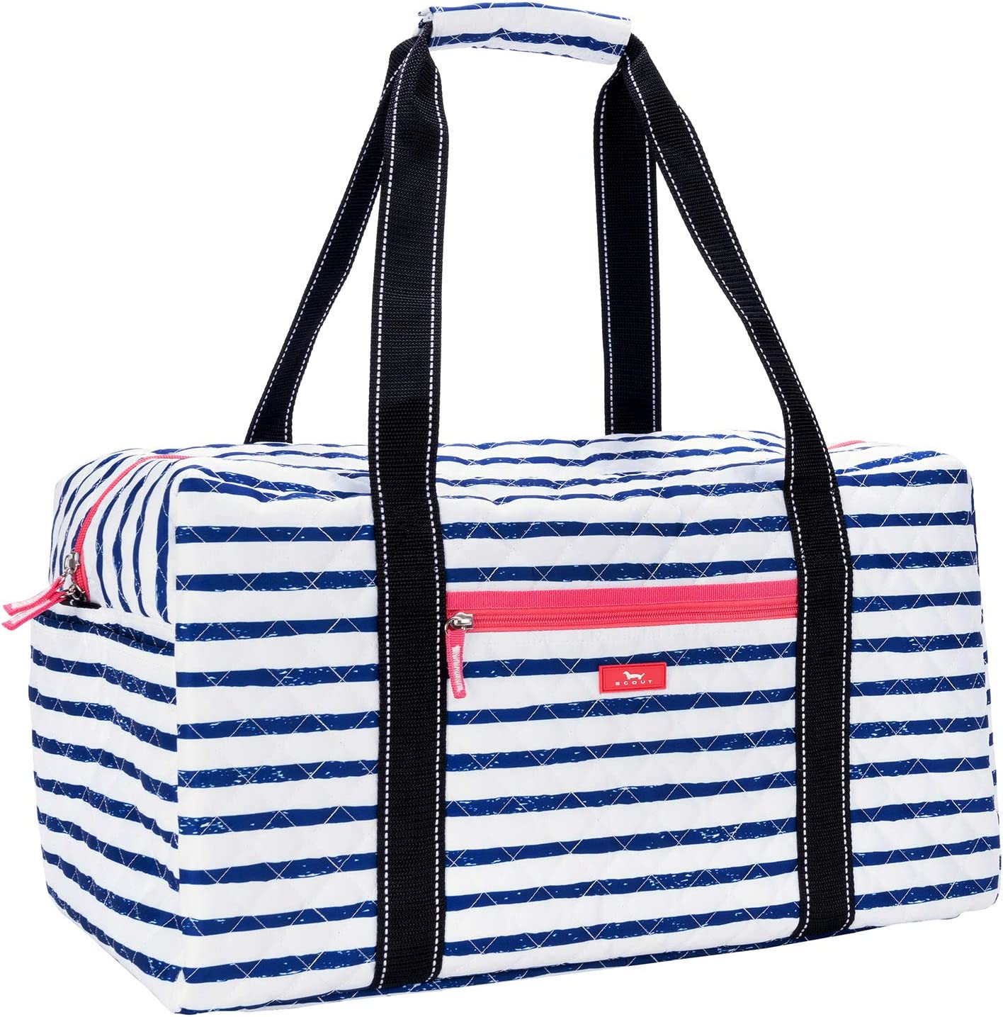 SCOUT Getaway Quilted Duffel Bag, Front Zipper Pocket, Open Side Pocket, Interior Zipper Pocket, Water Resistant, Wipes Clean, Zips Closed