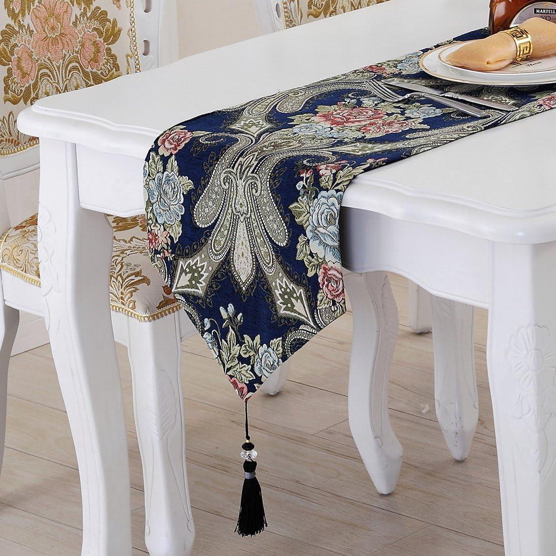 GS ~ LY cálido y elegante camino de mesa mantel paño de mesa de café cama de bandera de mesa bandera decoración para el hogar tablecloth32 cm * 160 cm 4: Amazon.es: Hogar
