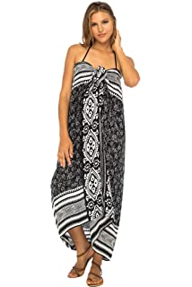 8254d1d2ef Back From Bali Womens Beach Dress Sarong Bikini Swimsuit Cover Up Wrap with Easy  Built-