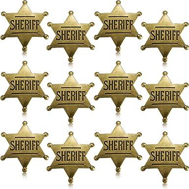12 Piezas de Insignia de Sheriff de Metal Broche de Vaquero ...
