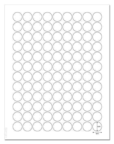 Amazon Com Waterproof White Matte 0 75 Inch Diameter Circle Labels
