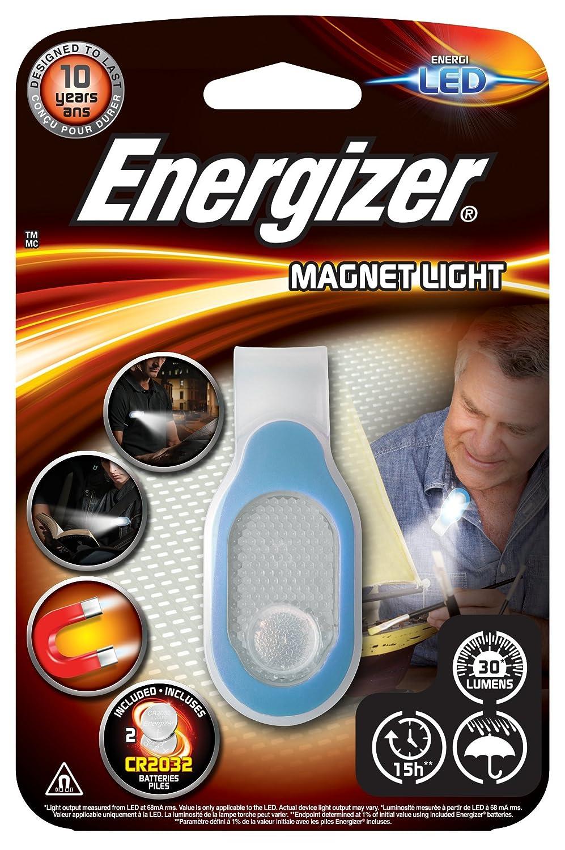 pilas incluidas Luz funcional LED con clip magn/ético resistente al agua 30 lm Energizer tama/ño compacto 15 horas