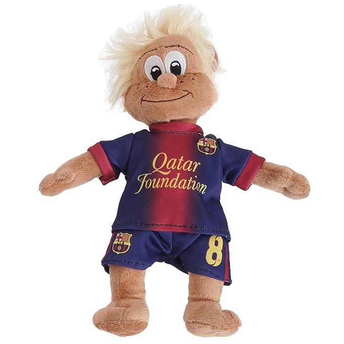 FC Barcelona - Muñeco / Peluche del Club con la Camiseta de Andrés Iniesta Fútbol (