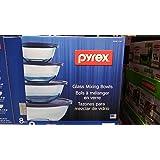 Pyrex 8pc mixing bowl set (blue)