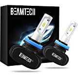 BEAMTECH H11 LED Bulb, 50W 6500K 8000Lumens Extremely Brigh H8 H9 CSP Chips Conversion Kit Fanless Cool White All In One Plug