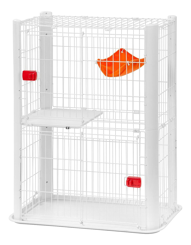 Iris Ohyama, Cage pour Chat sur 2 étages - Colour Slilm - CSC1-2, blanc, 12,5 kg, 91 x 50 x 115 cm 531167