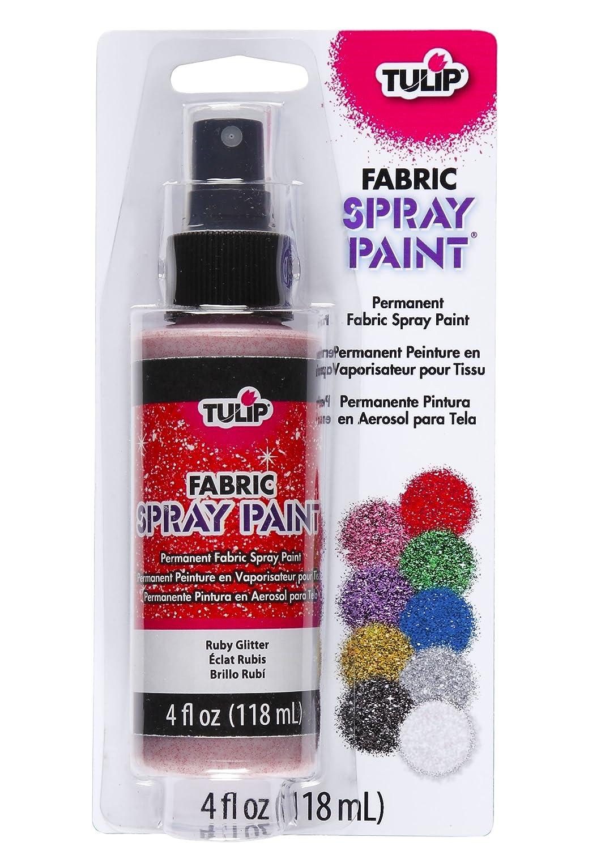 Tulip 27854 Vaporisateur de Peinture Permanente pour Tissu de 118 ml pour Tissu Couleur Rubis Rouge Brillant