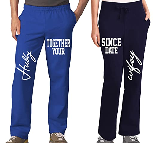f4b462edb6 Amazon.com: Husband and Wife Couples Pajama Pants & Bottoms - Couple Outfit  for Men & Women: Clothing