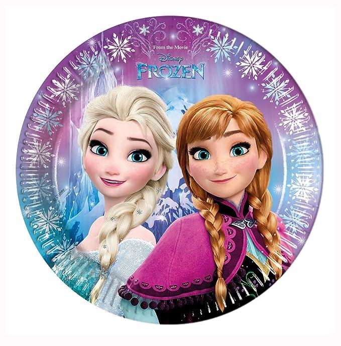 PROCOS Conjunto para Fiesta 10110970B, de Disney, diseño de Frozen Northern Lights, tamaño XL, 52 Piezas