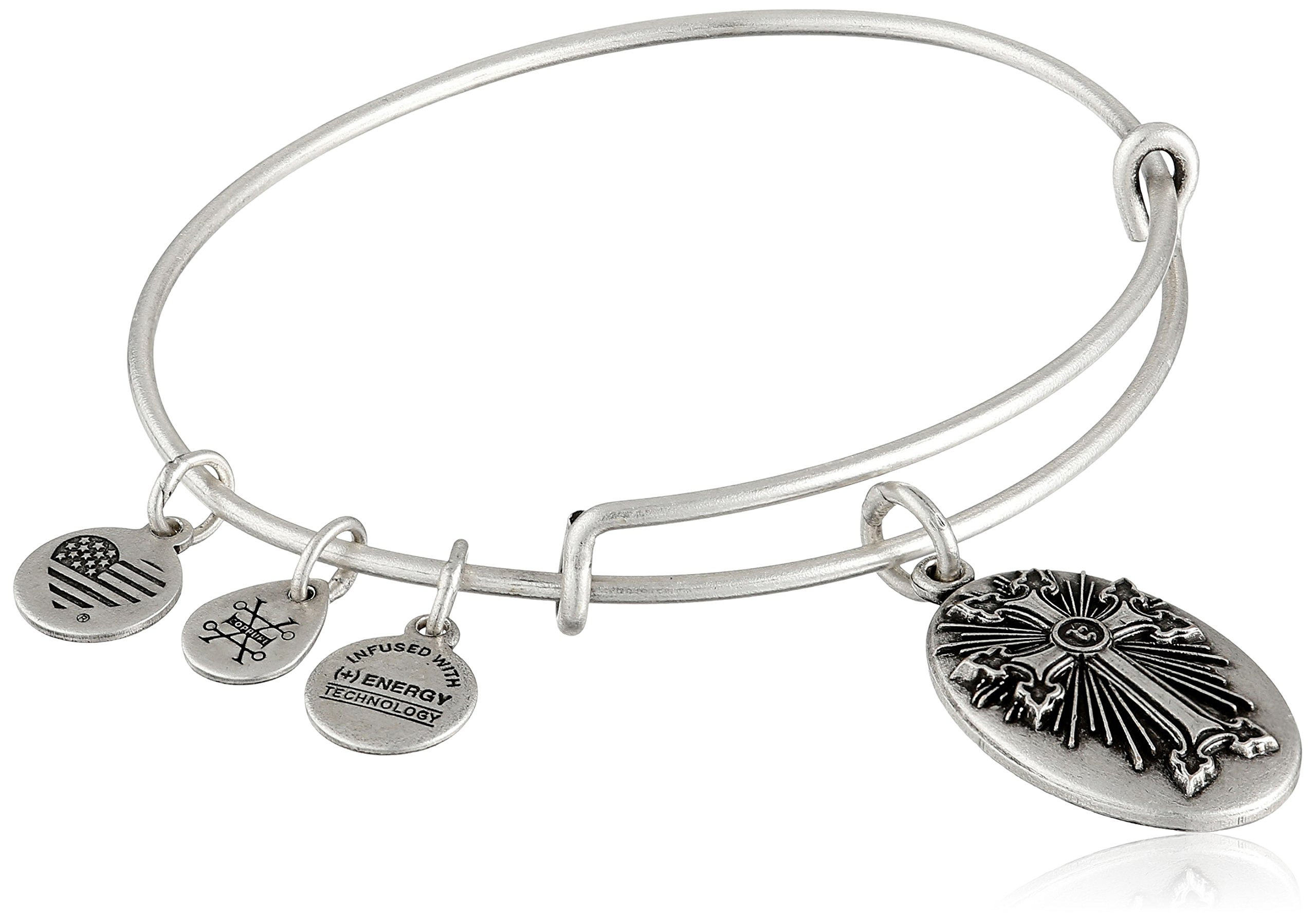 Alex and Ani Armenian Cross III Expandable Rafaelian Silver Bangle Bracelet