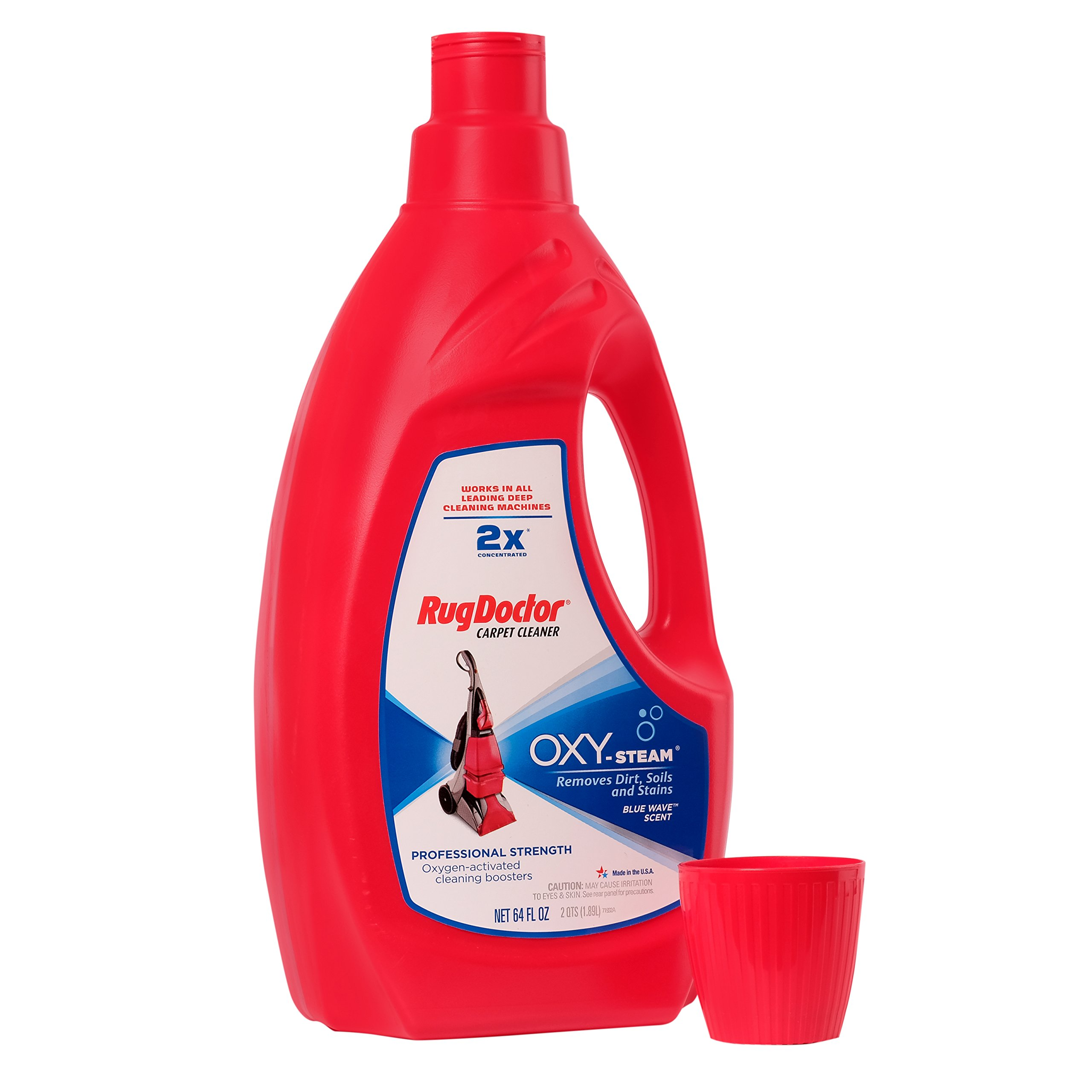 Rug Doctor Oxy Steam Carpet Cleaner Solution (64 oz.); Powerful, Effective, Super Concentrated Solution Formulated with Oxygen-Activated Cleaning Boosters; Works in All Leading Deep Cleaning Machines by Rug Doctor